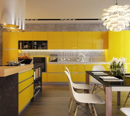 مطبخ أصفر 1