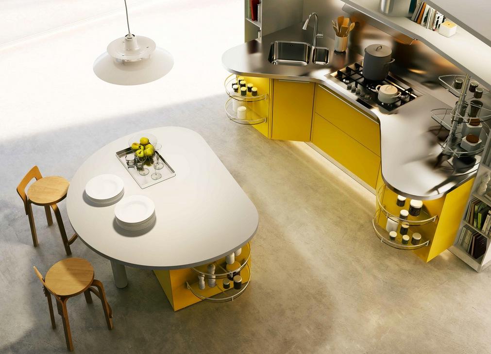 مطبخ أصفر 2 الألوان الجريئة... موضة تصاميم مطابخ 2016