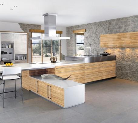 مطبخ بحوائط حجرية 2