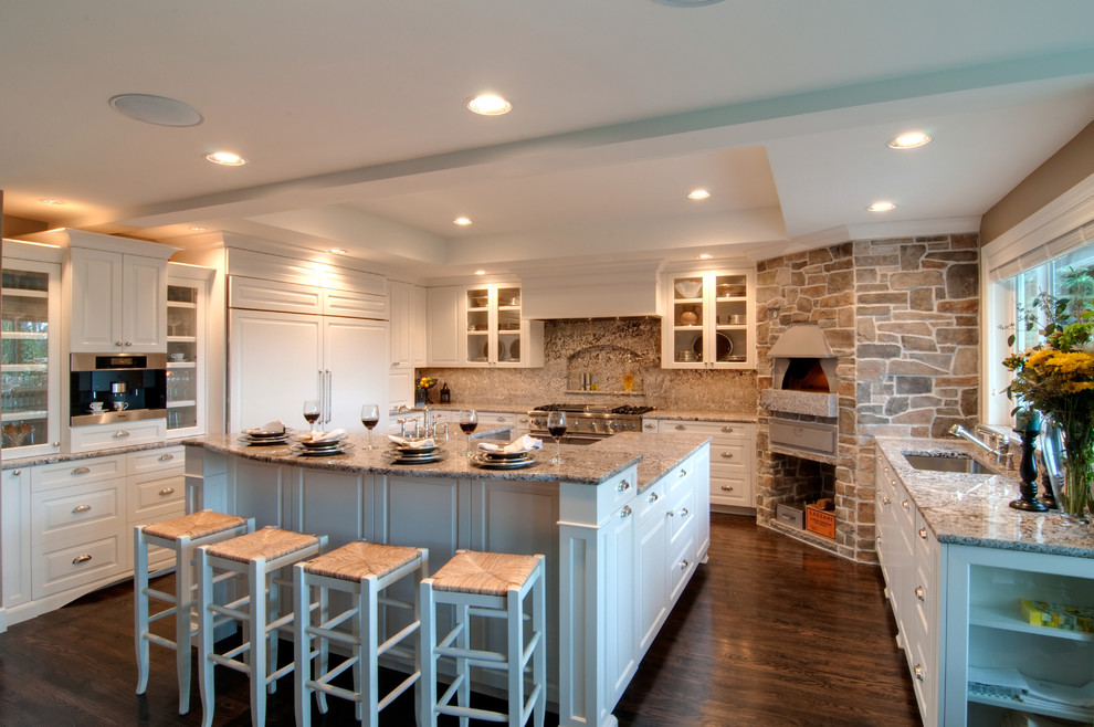 مطبخ بحوائط حجرية 5 الحوائط الحجرية.. لمسة فخامة وتميز في المطبخ