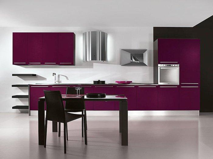 مطبخ بنفسجي 1 الألوان الجريئة... موضة تصاميم مطابخ 2016