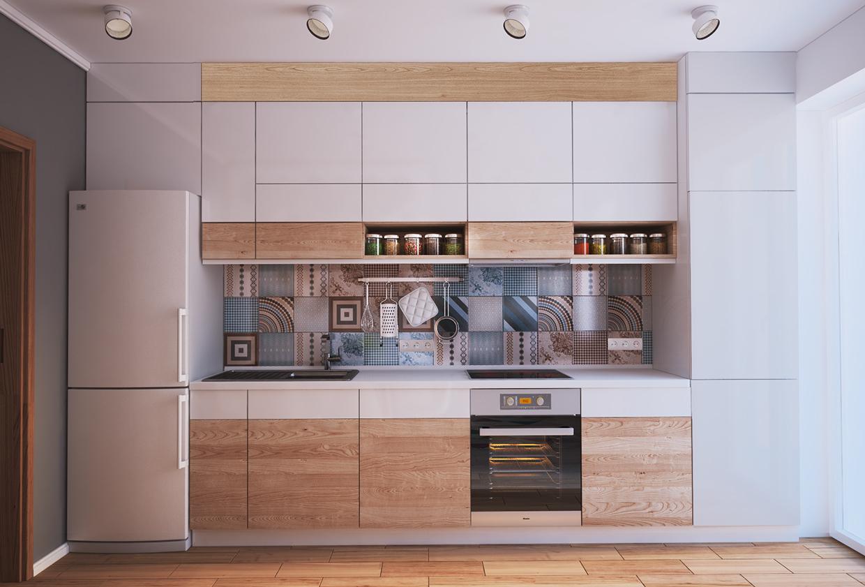 مطبخ صغير 1ا أفكار ممتازة للمساحات الصغيرة في تصميم شقة سكنية رائعة