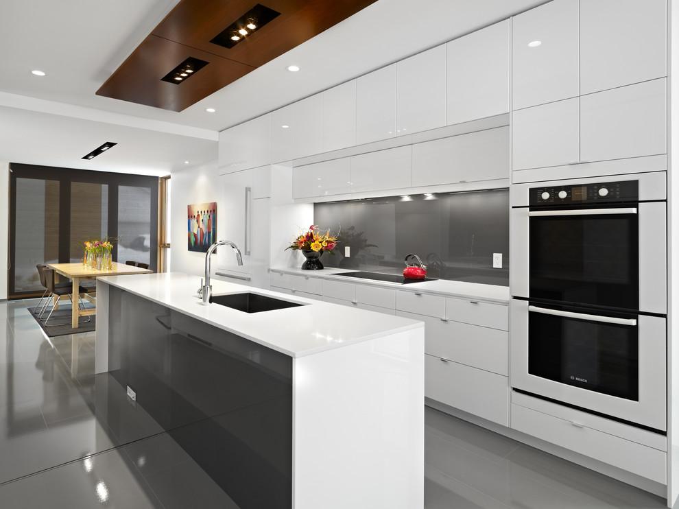 مطبخ مودرن أبيض 1 مطبخ مودرن أبيض 1