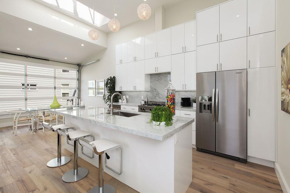 مطبخ مودرن أبيض 2 مطبخ مودرن أبيض 2