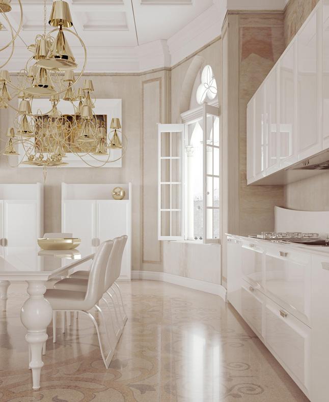 مطبخ مودرن فخم 1ب العصرية والفخامة في 10 مطابخ مودرن بتصميمات إيطالية