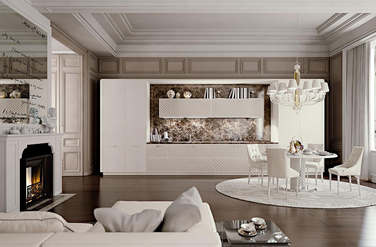 مطبخ مودرن فخم 5 العصرية والفخامة في 10 مطابخ مودرن بتصميمات إيطالية