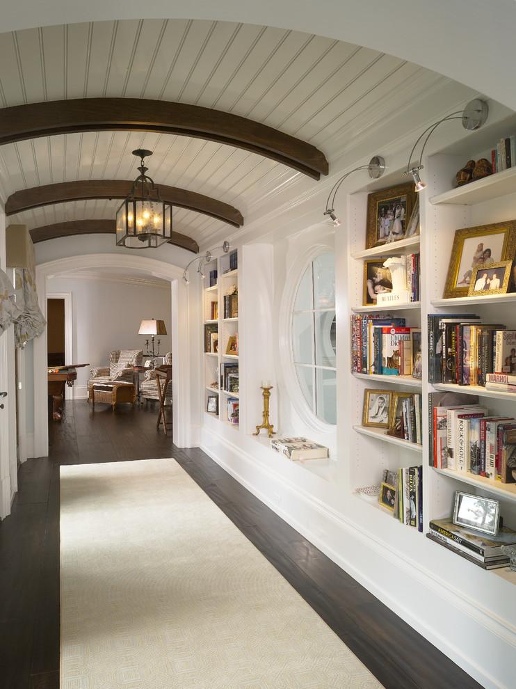 مكتبة في الرواق 2 7 أفكار أنيقة وعملية لديكورات أروقة المنازل