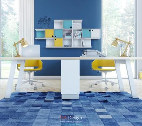 مكتب بألوان مشرقة 2