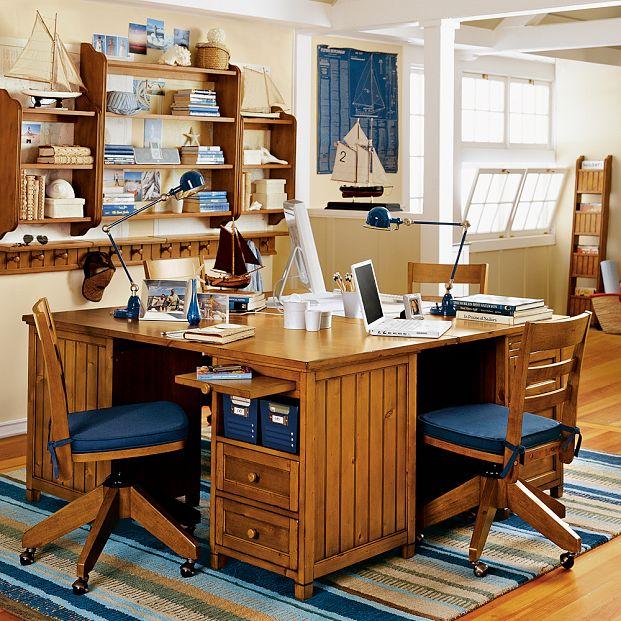 مكتب لشخصين 3 تصميمات لمساحات عمل تشجع طفلك على المذاكرة
