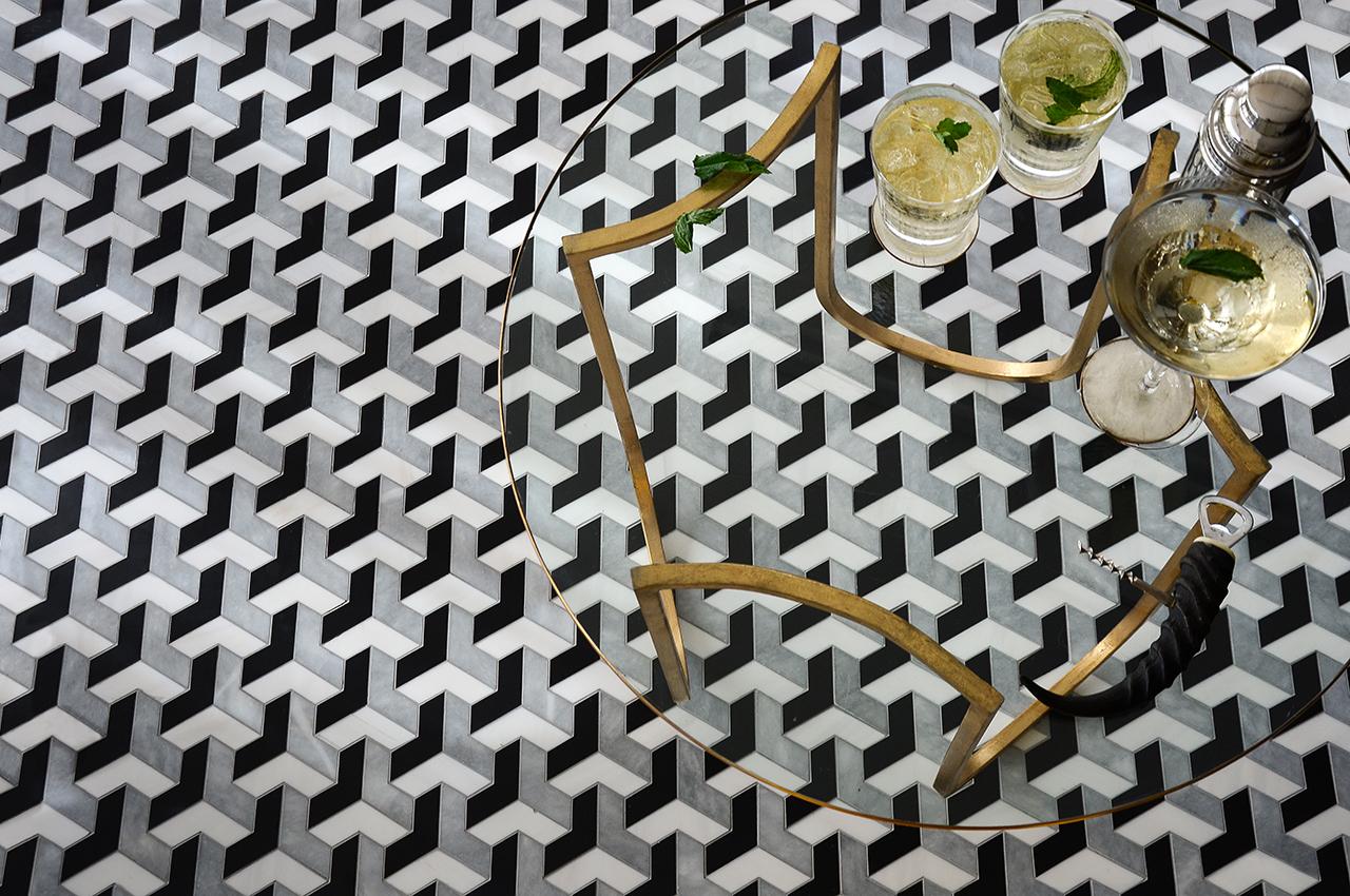 موزاييك رخام 11 روعة الموزاييك وفخامة الرخام في تصميمات حوائط وأرضيات مذهلة