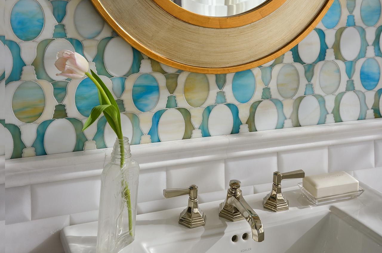 موزاييك رخام 4 روعة الموزاييك وفخامة الرخام في تصميمات حوائط وأرضيات مذهلة