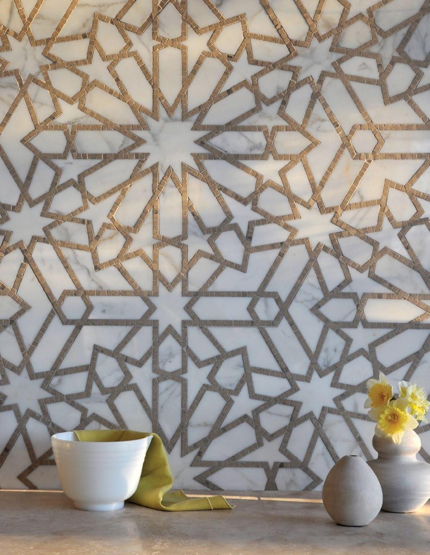 موزاييك رخام 6 1160x1500 روعة الموزاييك وفخامة الرخام في تصميمات حوائط وأرضيات مذهلة