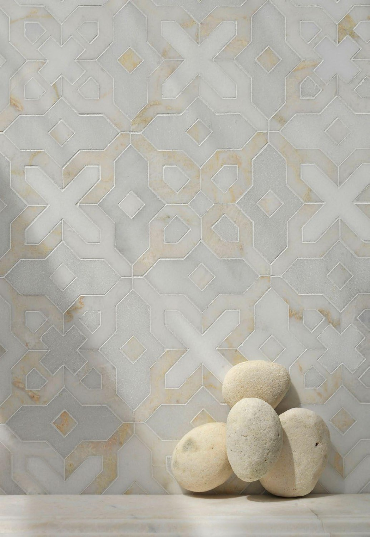 موزاييك رخام 8 1035x1500 روعة الموزاييك وفخامة الرخام في تصميمات حوائط وأرضيات مذهلة