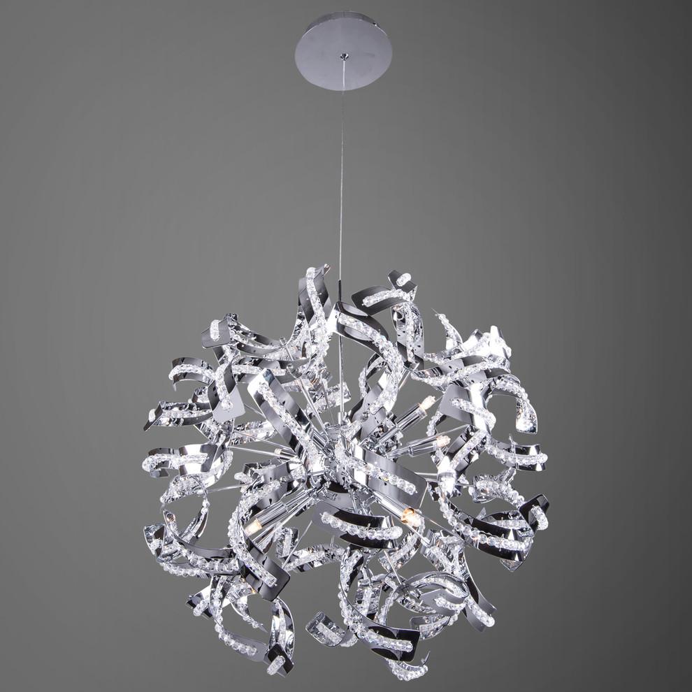 نجفة كريستال حديثة 15 20 تصميم للثريا الكريستال بعيدًا عن الكلاسيكية والتكرار