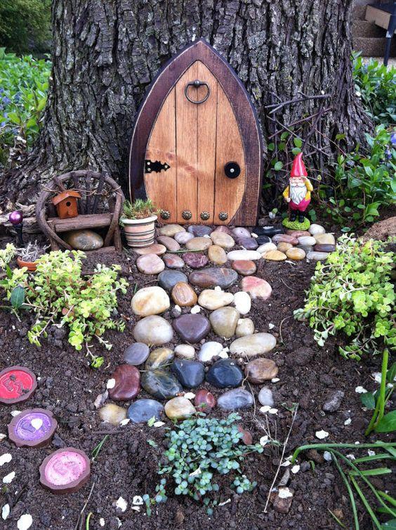 نحت و العاب صغيرة للأشجار ديكورات خيالية لحدائق المنازل