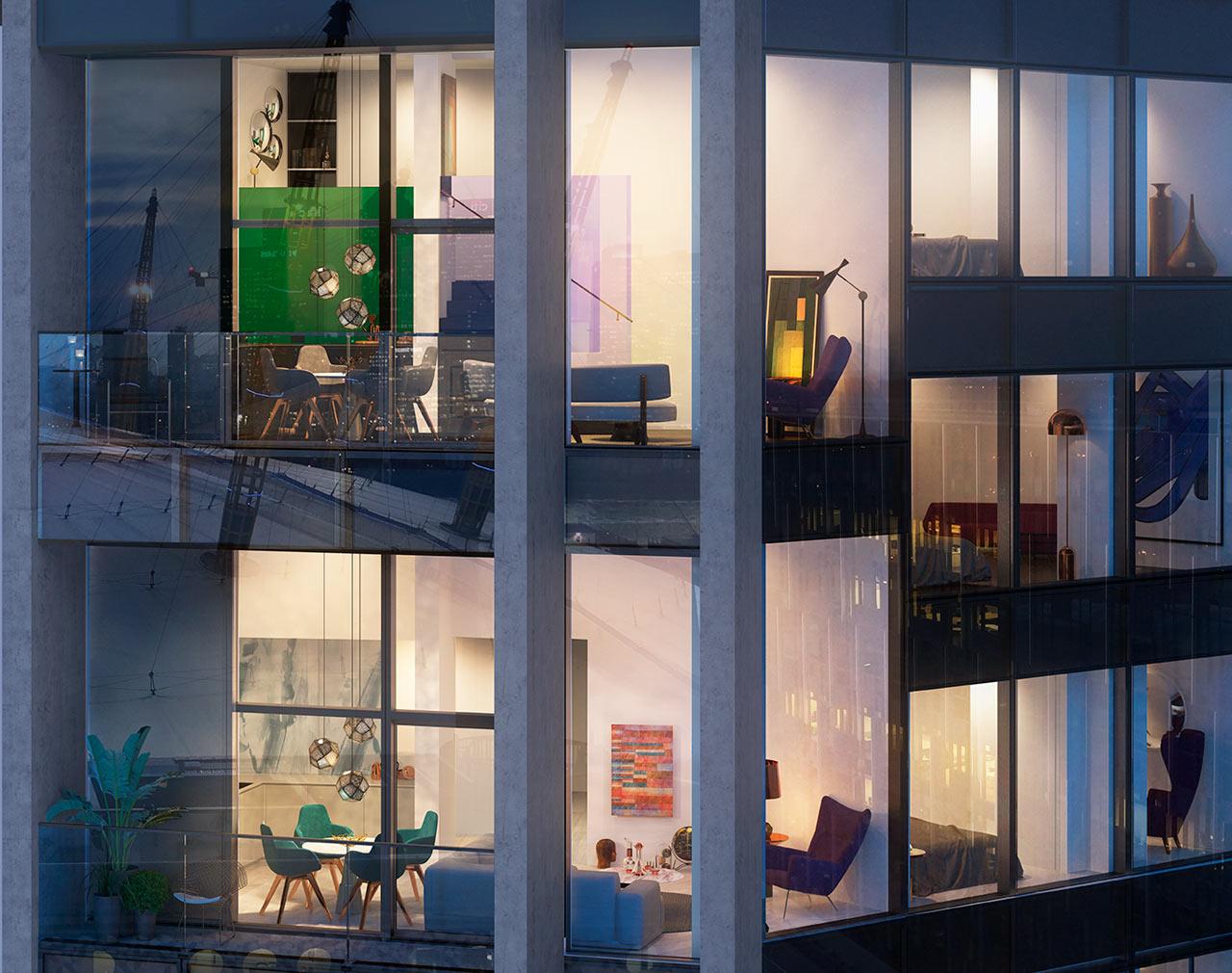 وحدات سكنية عصرية جرأة وروعة الألوان في تصميم وحدات سكنية عصرية