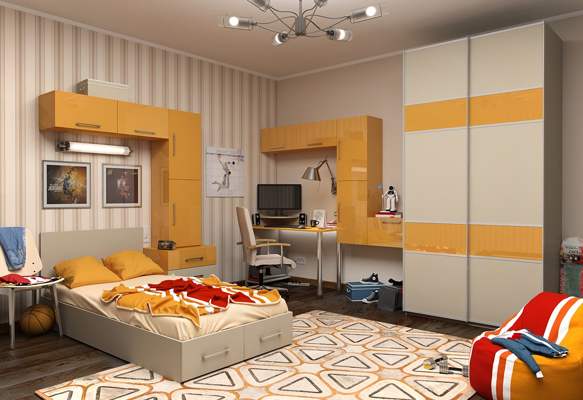 %name 1 Yellow kids room