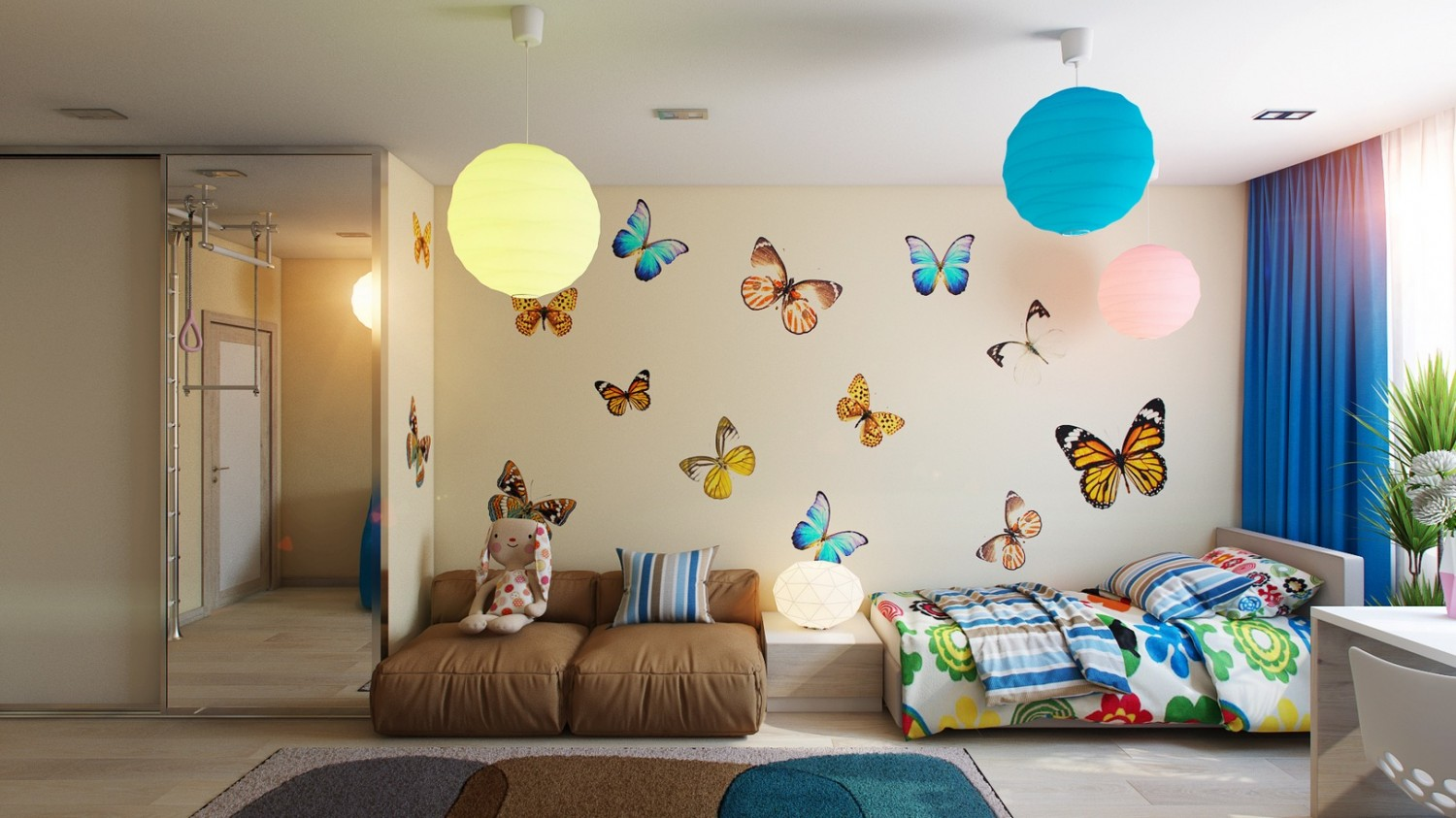 %name 10 Butterfly theme bedroom