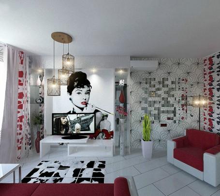 Red-white-black-decor