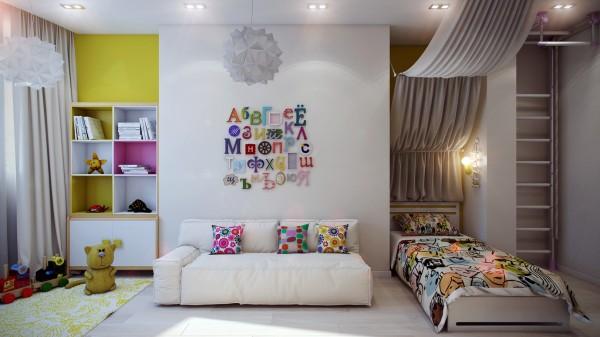 11 Modern kids decor 600x337 اجمل الوان تناسب غرف نوم الاطفال