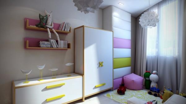 14 Modern kids room 600x337 اجمل الوان تناسب غرف نوم الاطفال