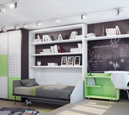 15-Green-white-teenage-bedroom