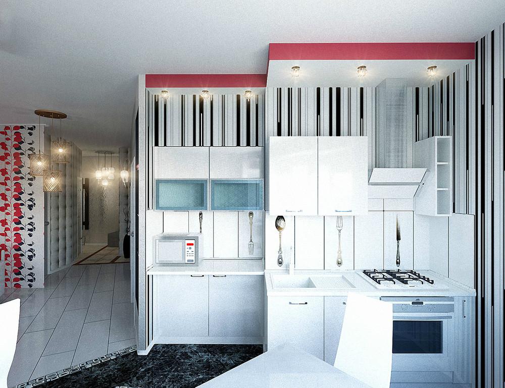 15 Red white kitchen تصميمات مبتكرة لشقق و اكسسوارات لا تناسب الا الشباب