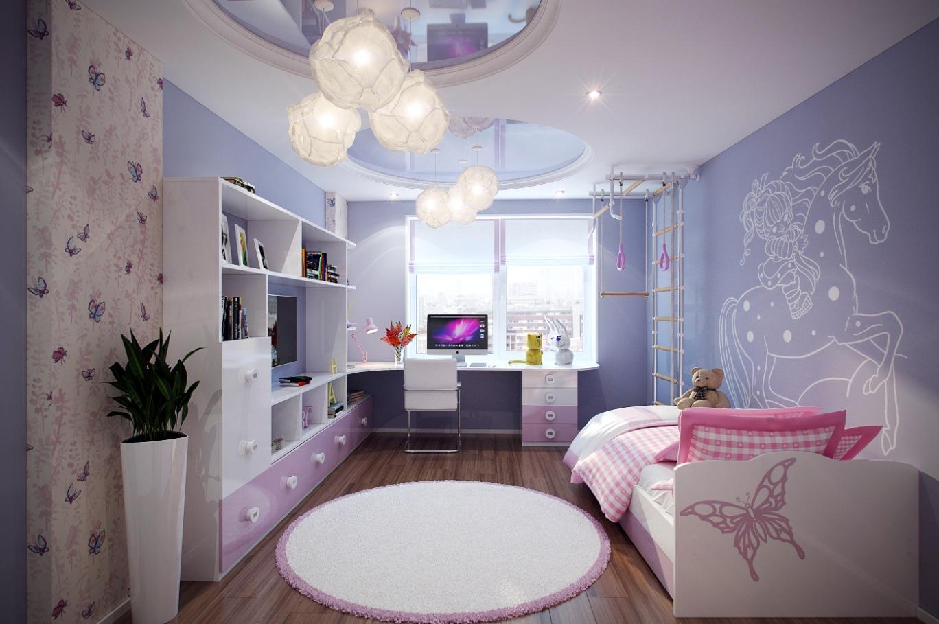 %name 2 Purple pink kids room