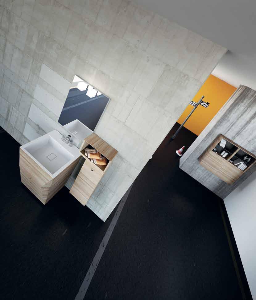 3 حمام بخزانات خشبية 3 حمام بخزانات خشبية