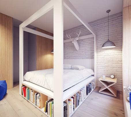 3 سرير بمكان لحفظ الكتب