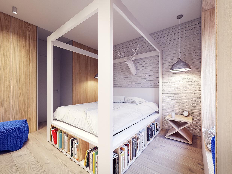 3 سرير بمكان لحفظ الكتب تصميمات حديثة ومتميزة للسرير ذي الأعمدة