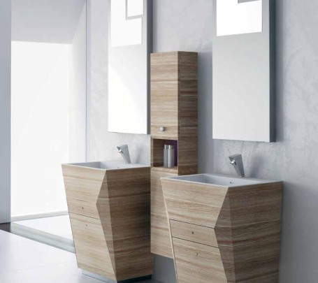 5 حمام بخزانات خشبية
