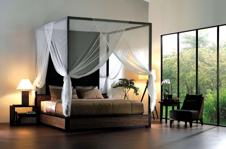 6 سرير بأعمدة وستائر 1500x989 6 سرير بأعمدة وستائر