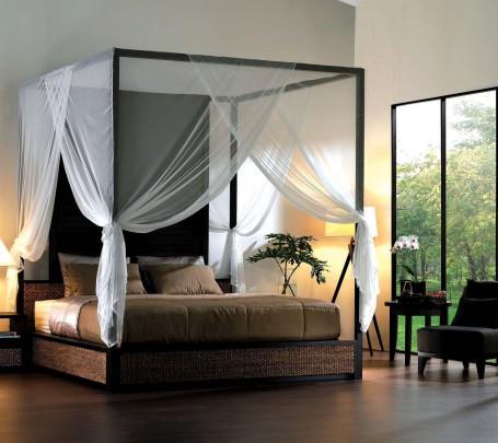 6 سرير بأعمدة وستائر