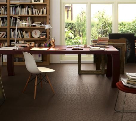 Brown-patterned-ceramic-floor-tiles-home-office