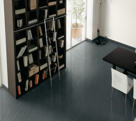 Gray-ceramic-tile-floor-home-library-dining-room