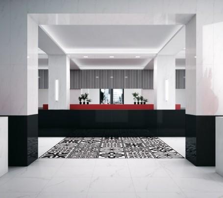 Monochrome-design-ceramic-floor-tiles