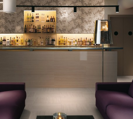 Purple-white-lounge-bar-patterned-wall-tile