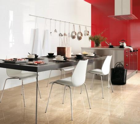 Red-white-cream-kitchen-gloss-ceramic-tile