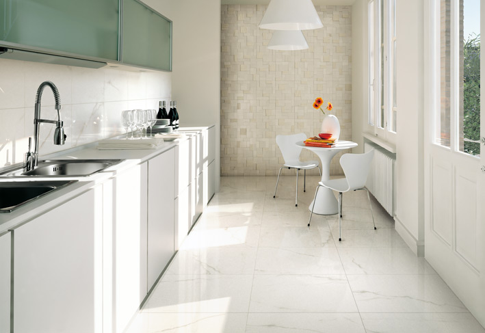 %name White kitchen ceramic tile textured wall