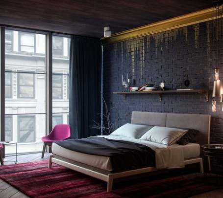 black-and-gold-bedroom-600x428