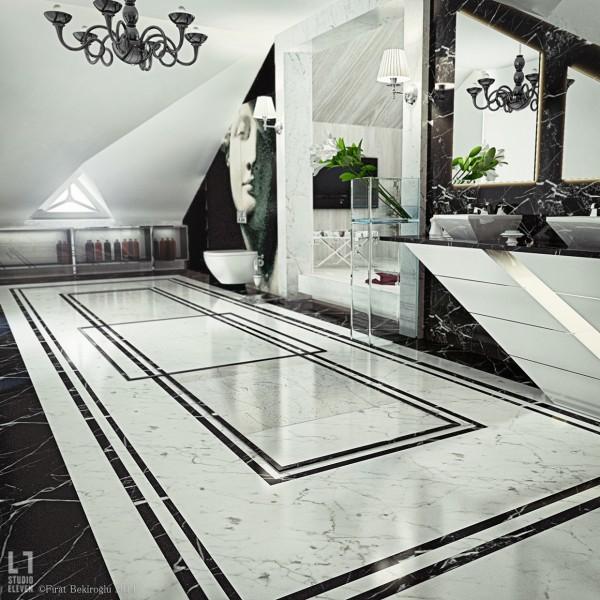 black and white bathroom 600x600 black and white bathroom 600x600