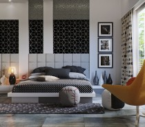 black-and-white-bedroom-210x185