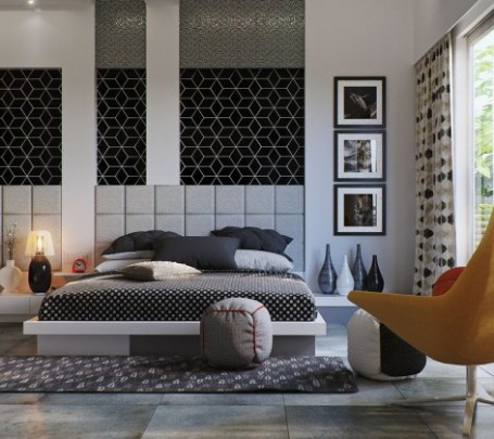 black-and-white-bedroom-600x420