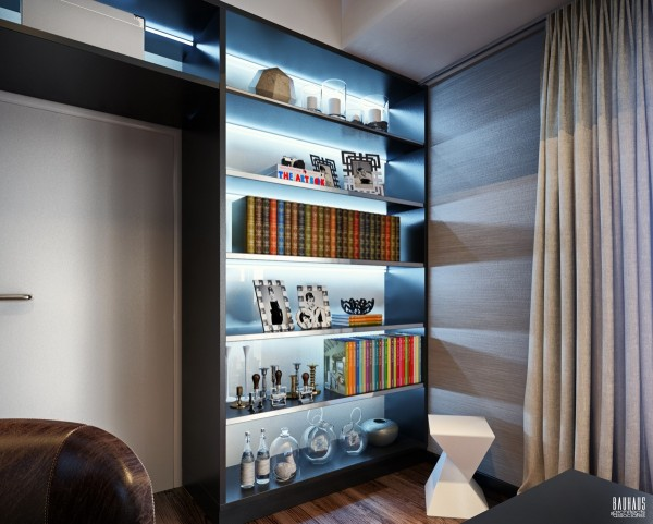 built in shelving 600x481 ٦ غرف نوم بتصميم عصري مودرن