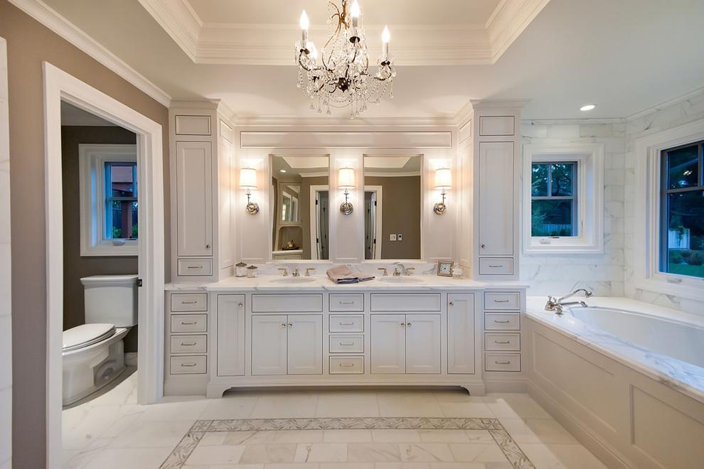 تصميمات حمامات كلاسيك بلمسة عصرية