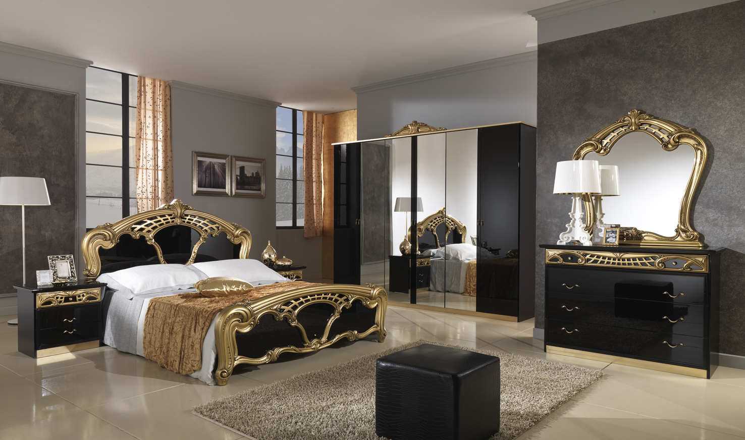 classical bedroom gold black 05 11 08 001