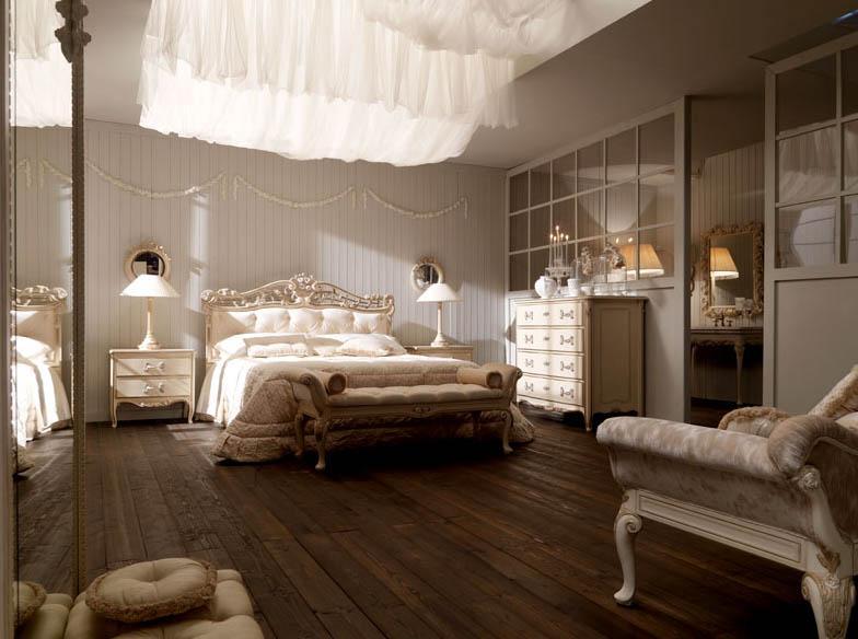 classical bedroom with white curtains غرفة النوم هي عنوان أناقة وجمال منزلك