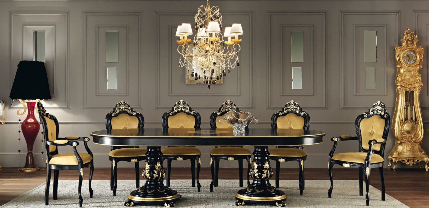 classical dining room with gold 1500x727 classical dining room with gold