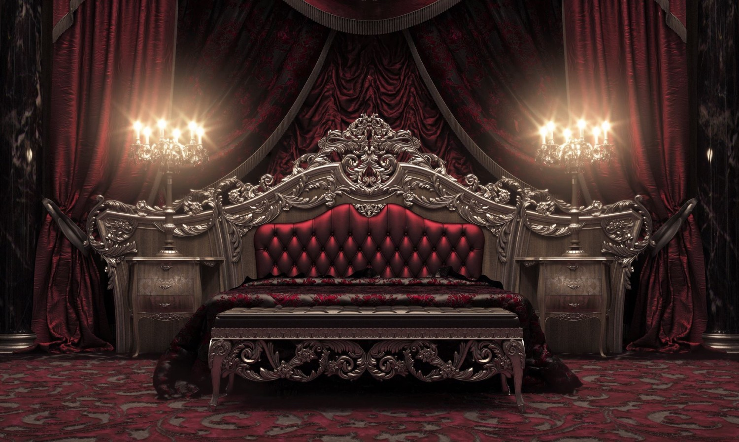 classical royal bedroom red 1500x897 classical royal bedroom red